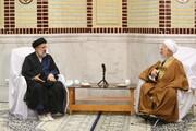 تصاویر/ ایران کے صدر کی آیت اللہ العظمی جوادی آملی سے ملاقات