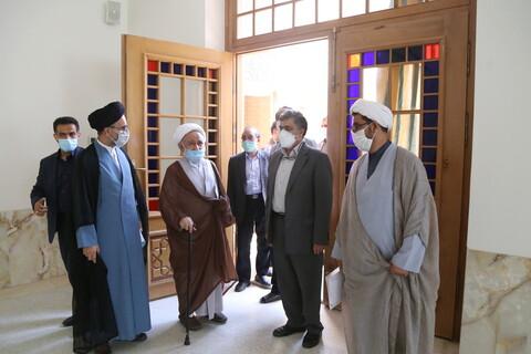 تصاویر / بازدید آیت الله استادی از مدرسه علمیه علوی قم