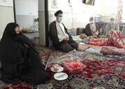 دیدار مدیر حوزه علمیه یزد با خانواده شهیدان روحانی عبداللهی و مختاری