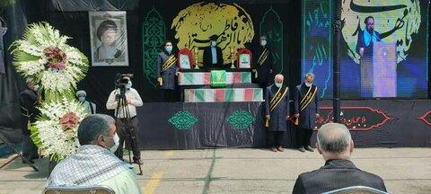 تشییع و تدفین شهدای گمنام با حضور «سفیران کریمه»