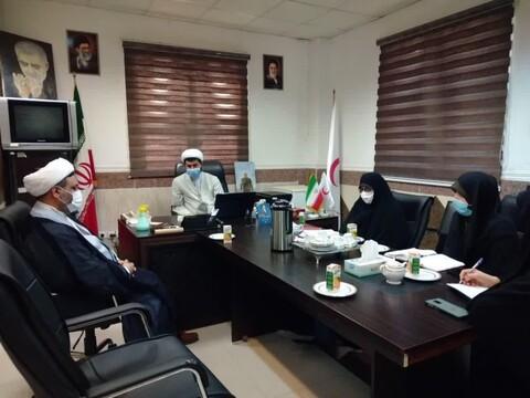 نشست مدیر حوزه علمیه خواهران خوزستان با معاون امور جوانان جمعیت هلالاحمر