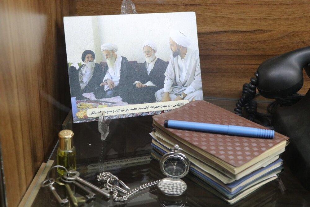 تصاویر/ رونمایی از یادمان مرحوم آیت الله حدائق