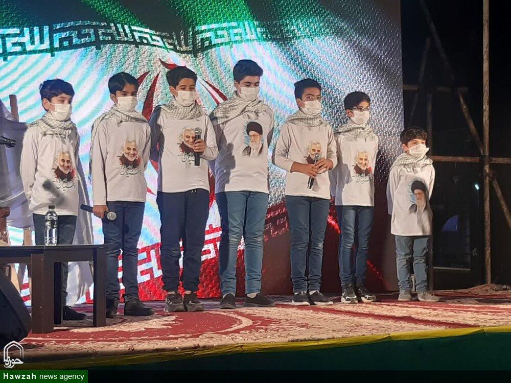 فیلم | اجرای گروه سرود پرواز کاشان پیرامون حجاب و عفاف