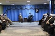 تصاویر / دیدار آیت الله اعرافی با نماینده ولی فقیه در استان آذربایجان شرقی