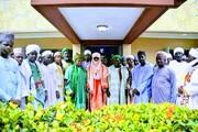 دیدار جمعی از علمای طریقت قادریه با روحانی نیجریهای