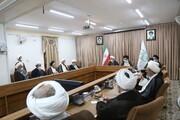 تصاویر / نشست رئیس جدید قوه قضائیه با اعضای جامعه مدرسین حوزه علمیه قم