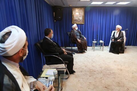 تصاویر / دیدار رئیس قوه قضائیه با آیت الله العظمی نوری همدانی