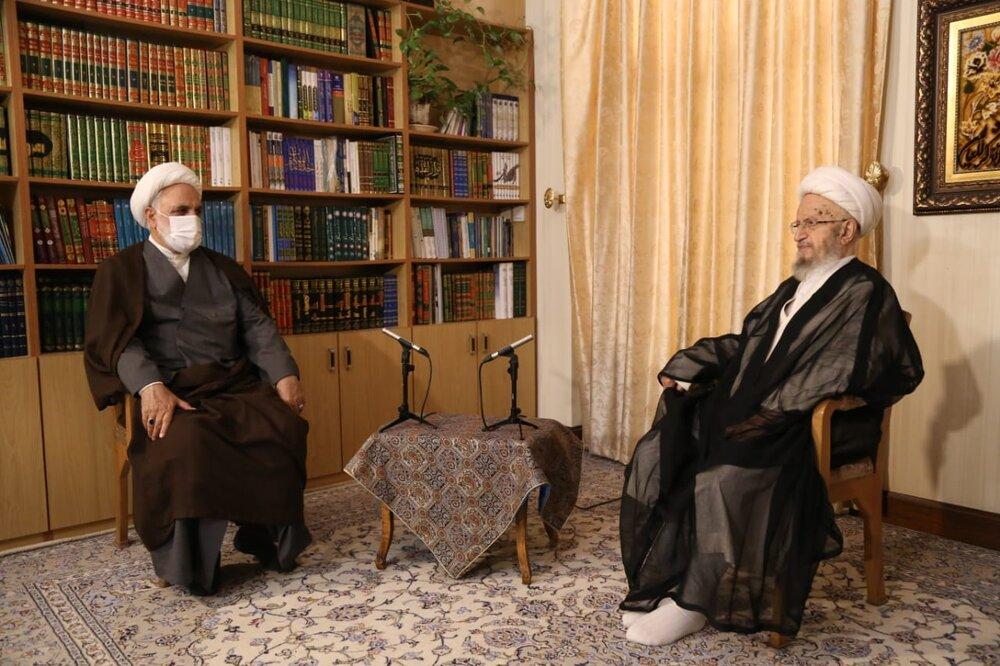 فیلم   توصیههای آیتالله العظمی مکارم شیرازی به رئیس قوه قضائیه