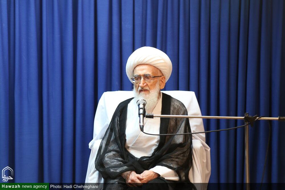 پیام تسلیت آیت الله العظمی نوری همدانی به عضو شورای عالی حوزه