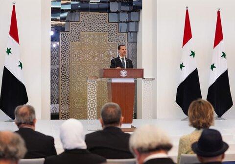 مراسم تحلیف بشار اسد