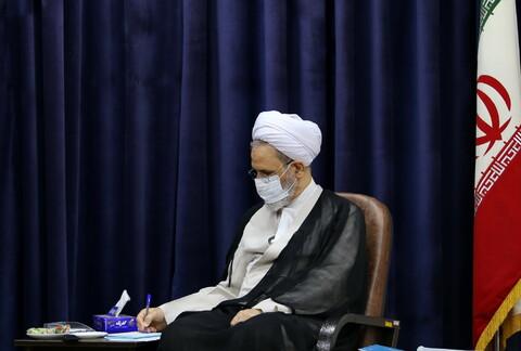 تصاویر/ دیدار مدیرکل بهزیستی استان قم با آیت الله اعرافی