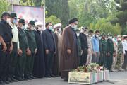 پیکر مطهر شهید گمنام در صدا و سیمای مرکز کهگیلویه و بویر احمد آرام گرفت + عکس