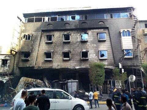 آتش سوزی در یکی از هتل های کربلا