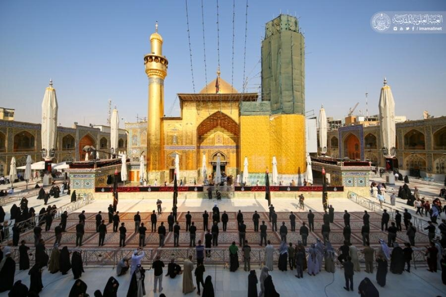 بالصور/ منتسبو العتبة العلوية المقدسة يحيون ذكرى شهادة الإمام الباقر (عليه السلام)