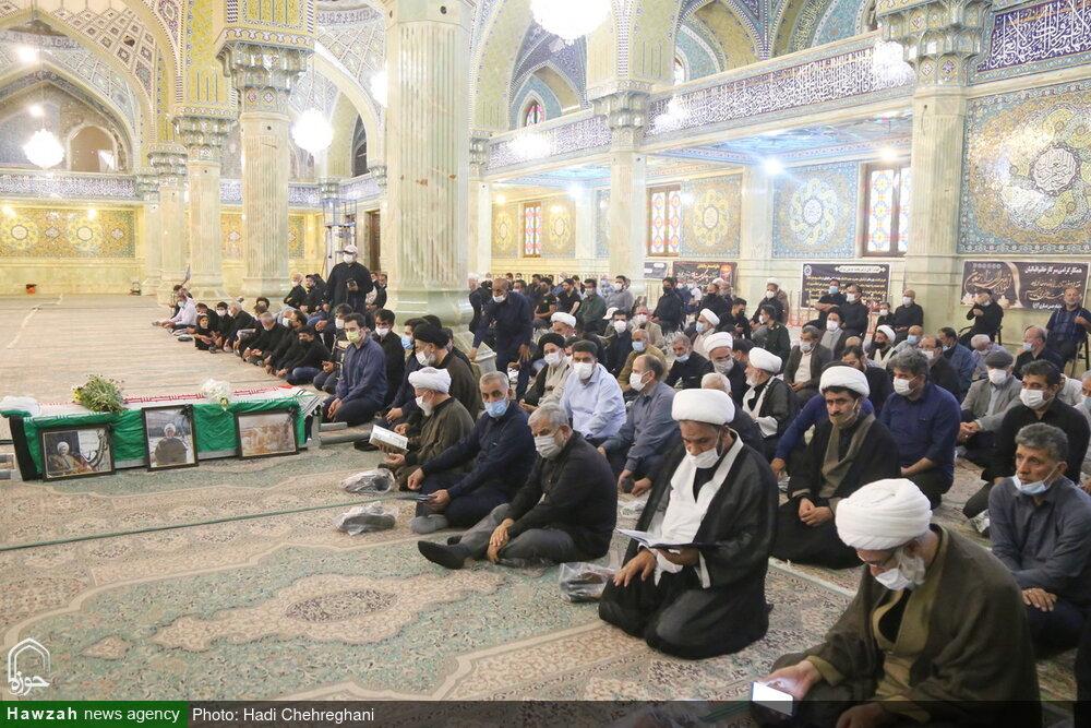 تصاویر / تشییع پیکر مرحوم حجت الاسلام والمسلمین اقبالیان در قم