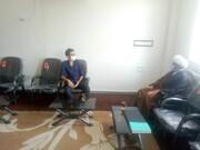 مسئول اداره بهداشت بندر چارک با امام جمعه شیبکوه دیدار و گفتگو کرد