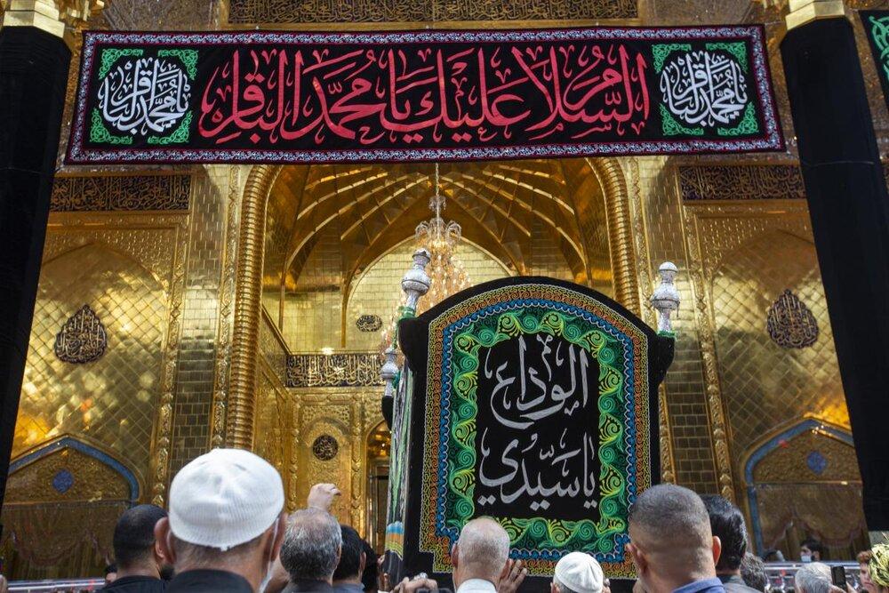 مواكبُ العزاء تستذكر شهادة الإمام الباقر (عليه السلام) في رحاب العتبة العبّاسية المقدّسة