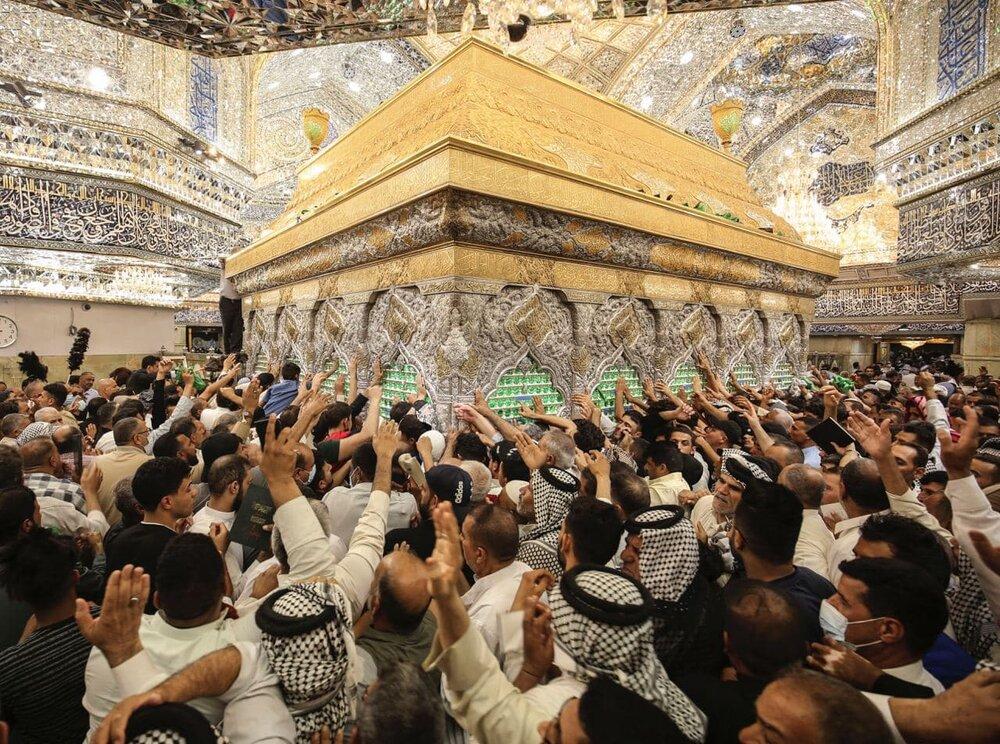 تصاویر/ حال و هوای کربلای امام حسین (ع) در روز عرفه
