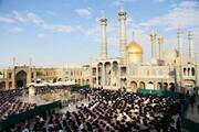 تصاویر/ روضہ معصومہ قم (س) میں نماز عید قربان