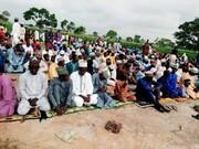 برگزاری نماز عید قربان توسط شیعیان در یکی از روستاهای شهر زاریا نیجریه + تصاویر