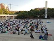 برگزاری نماز عید قربان در شهر بارسلونا + تصاویر