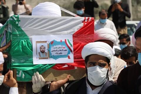 تصاویر/ مراسم تشییع پیکر شهید حجتالاسلام ابراهیم سابقینژاد در زاهدان