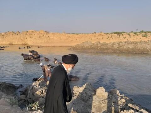 بازدید نماینده ولیفقیه خوزستان از روستاهای حمیدیه