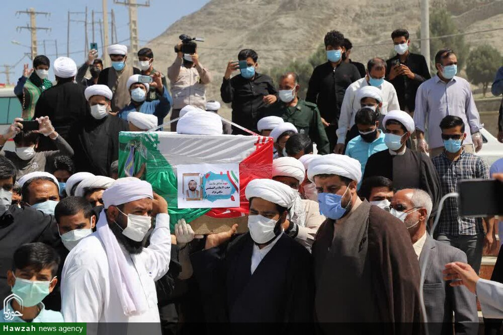 تصاویر/ مراسم تشییع پیکر شهید عرصه سلامت حجتالاسلام ابراهیم سابقینژاد در زاهدان