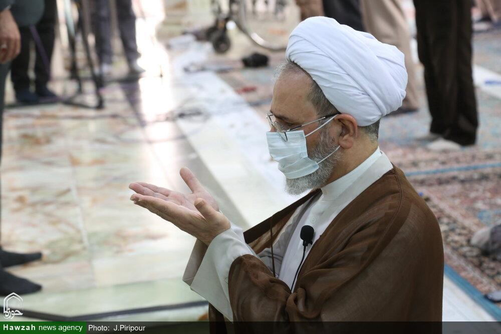 تصاویر/ اقامه نماز عید قربان در مسجد مقدس جمکران
