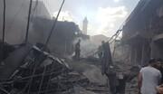 انفجار مبنى شرق مدينة غزة