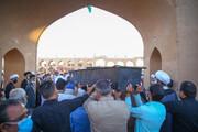 فیلم| صحبت های امام جمعه ابرکوه در مراسم خاکسپاری مرحوم فرج نژاد