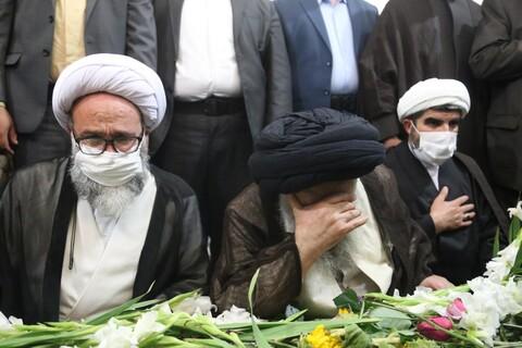 تصاویر/ آیین تشییع پیکر مطهر شهید ضرغام پرست در اهواز
