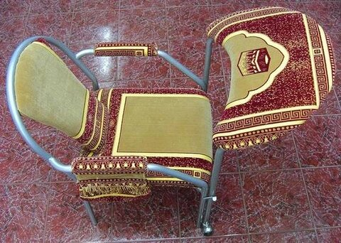 salat on the chair