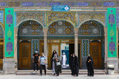 سبزپوش شدن حرم حضرت فاطمه معصومه(س) در استقبال از عید غدیر