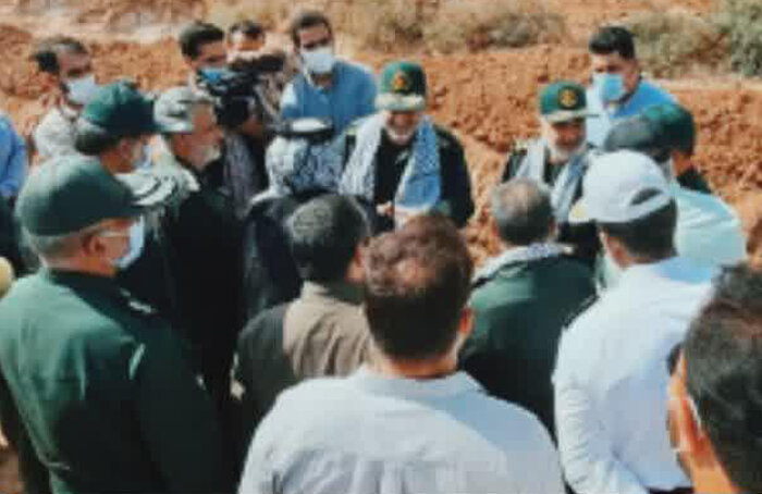 حضور سردار سلامی در بین عشایر روستای جفیر از توابع شهرستان هویزه