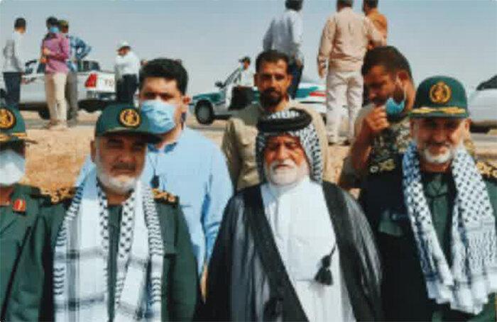 حضور سردار سلامی در بین عشایر روستای جفیر شهرستان هویزه