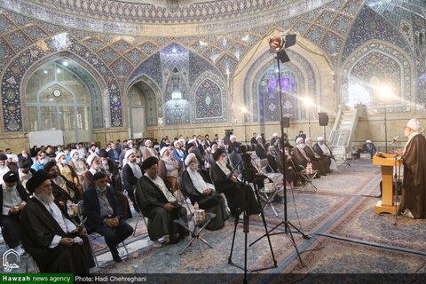 بالصور/ مراسيم إزاحة الستار عن كتاب مقتل الحسين (ع) بمدينة قم المقدسة