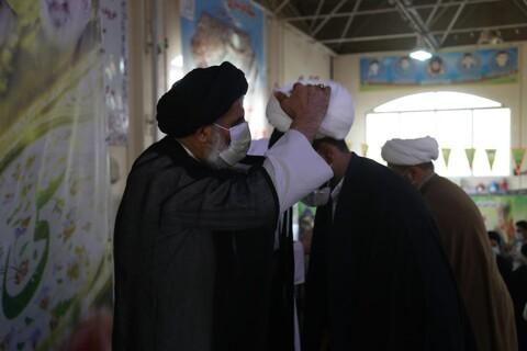تصاویر/ آئین عمامه گذاری طلاب حوزه علمیه خوزستان