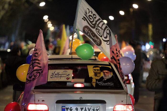 فیلم| اولین شب حرکت کارون شادی غدیریه در بحرانی ترین نقطه خوزستان