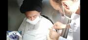 """آیت اللہ العظمی علوی گرگانی نے ایرانی ویکسین """"برکت"""" کی پہلی ڈوز لگوا لی"""