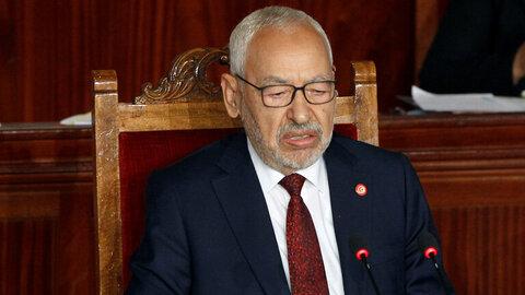 راشد الغنوشی رهبر جنبش النهضه و رئیس پارلمان تونس