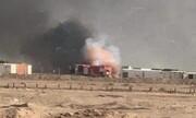 اردوگاه نظامی حشد الشعبی در نجف اشرف هدف پهپاد قرار گرفت