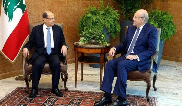 میقاتی و عون برای تسریع در تشکیل دولت لبنان به توافق رسیدند