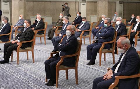 تصاویر/ آخرین دیدار رئیسجمهور و هیئت دولت دوازدهم با رهبر معظم انقلاب