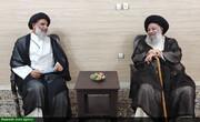 دیدار عیدانه نماینده ولیفقیه در خوزستان با آیت الله موسوی جزایری