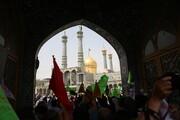 تصاویر/ حرم مطہر حضرت معصومہ (س) جشن عید غدیر سادات