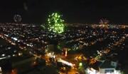 فیلم  نمایی هوایی از نورافشانی غدیریه در آسمان اهواز