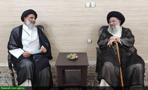 بازدید عیدانه نماینده ولیفقیه در خوزستان با آیت الله موسوی جزایری