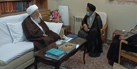 دیدار وزیر اطلاعات با مراجع عظام تقلید و علما
