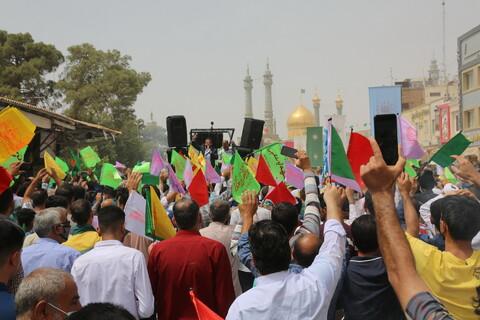تصاویر/ جشن عید غدیر سادات در حرم مطهر
